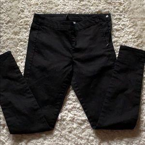 H&M Black Skinny Canvas Pants-6